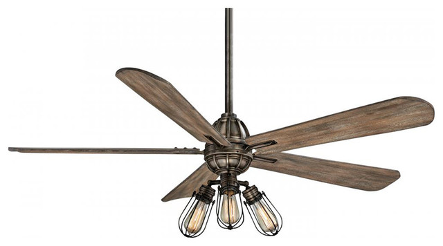 Minka Aire Alva 56 Led Ceiling Fan, Heirloom Bronze.