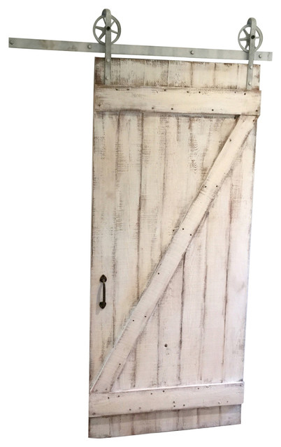 Shabby Chic Quot Z Quot Sliding Barn Door White Barn Door