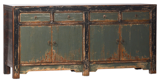 Mongolian Painted Buffet - Asian - Buffets And Sideboards - by Design Mix Furniture