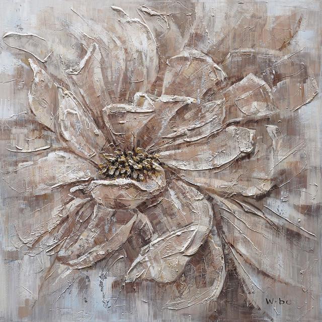 """a Beautiful Bloom"" Hand Painted Canvas Artwork; Fine Art; Floral Artwork."