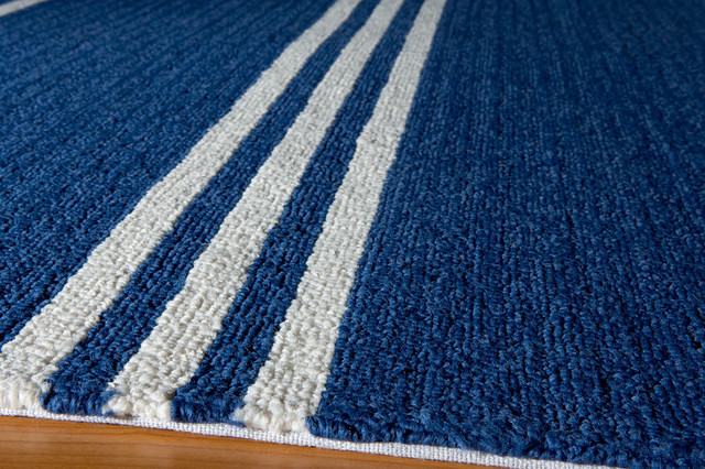Veranda Indoor/outdoor, Hand-Hooked, Uv Protected Rug, Maritime Blue, 5&x27;x8&x27;.