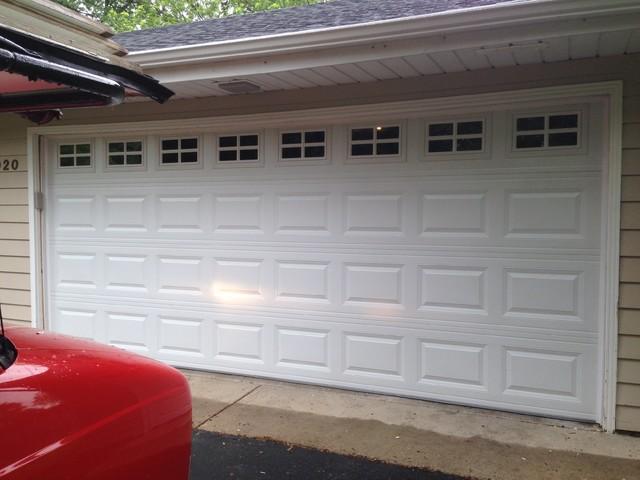 Garage door installs traditional
