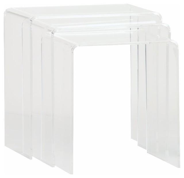 Peekaboo Clear Nesting Tables