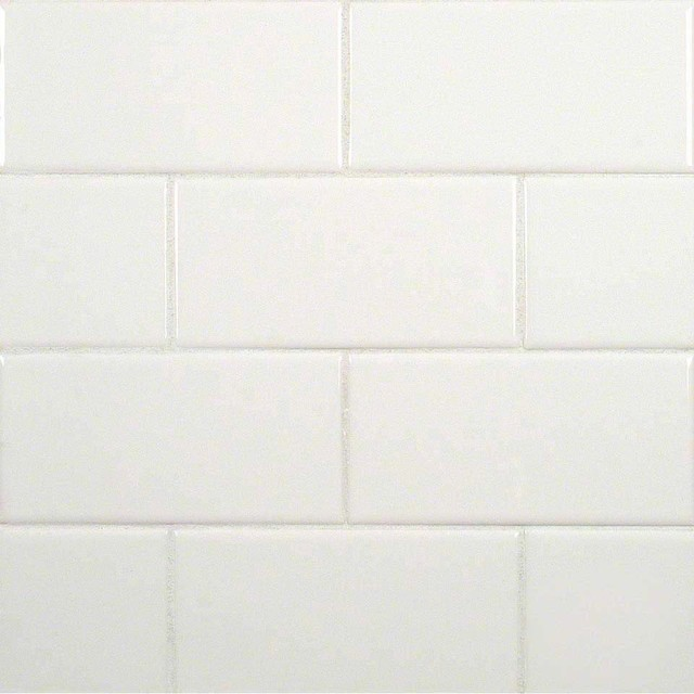 Sample Of White Subway Bullnose Ceramic Contemporary Wall And Floor Tile