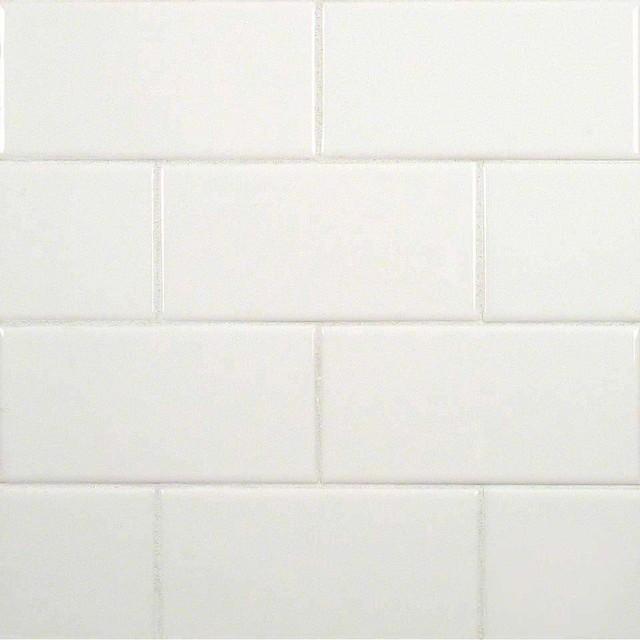 3x6 White Subway Bullnose Ceramic Subway Contemporary Wall And