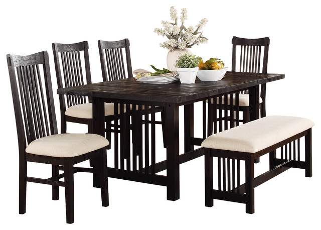 Homelegance Irrington Trestle Dining Table in Black  : dining tables from www.houzz.com size 640 x 458 jpeg 71kB