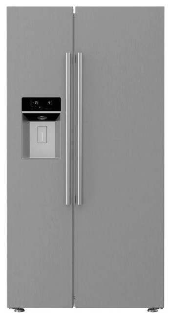 "Blomberg 36"" Counter Depth Side-By-Side Refrigerator With 22 Cu. Ft. Capacity."