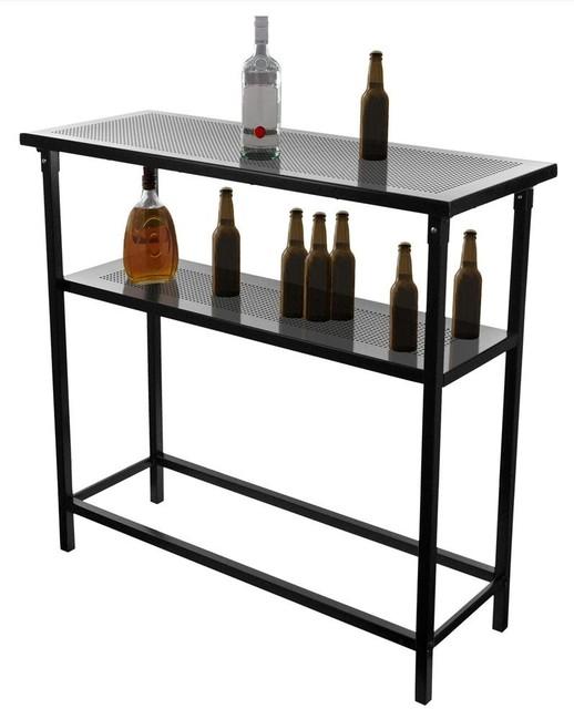 Trademark Global Nascar 2 Shelf Portable Bar W Case Reviews Houzz