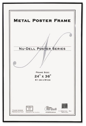 nudell metal poster frame plastic face 24 x 36 black contemporary picture