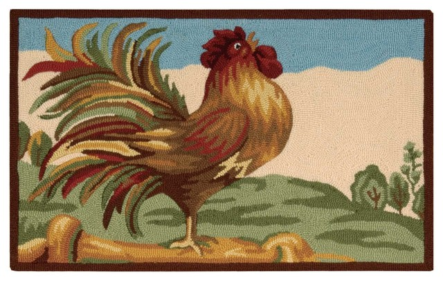 Everywhere Rooster Accent Rug, Multicolor, 1&x27;8x2&x27;9.