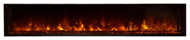 "80"" Built-In Electric Fireplace, Glowing Coal Ember Bed Standard."