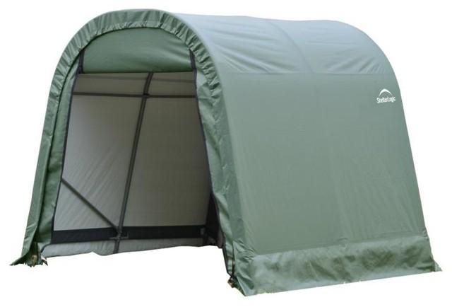 11&x27;x12&x27;x10&x27; Round Style Shelter, Green.
