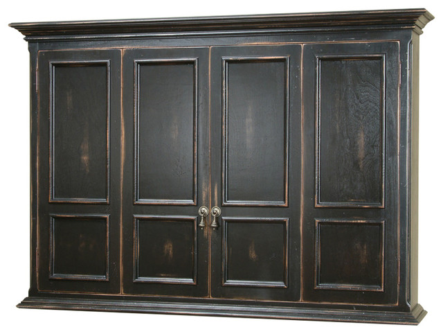 Hillsboro Flat Screen TV Wall Mount Cabinet Traditional