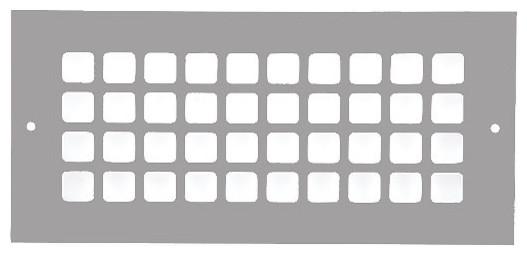 Aluminum Grid Pattern Grille, Gray, 4x10.
