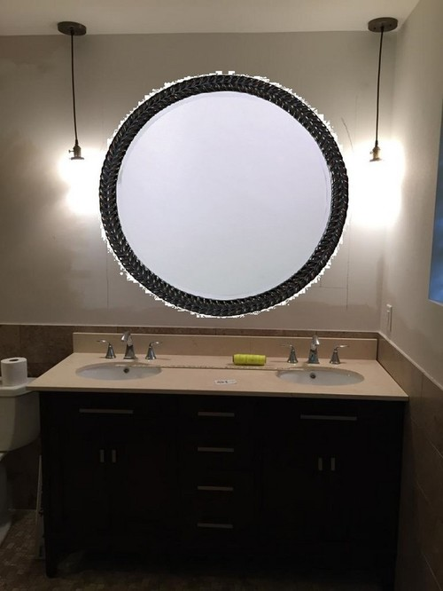 Bathroom Mirror Not Over Sink would a giant round bathroom mirror be weird?