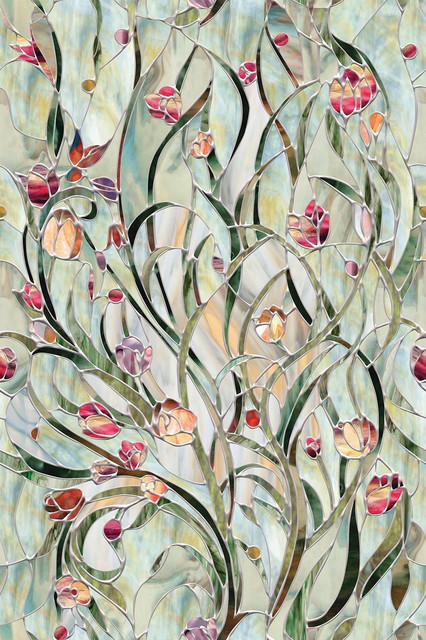 """Artscape Spanish Garden Window Film 24"""" X 36"""""""