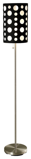 Floor Reading Lamp All Directions Adjustable Arm With Convenient Foot, White
