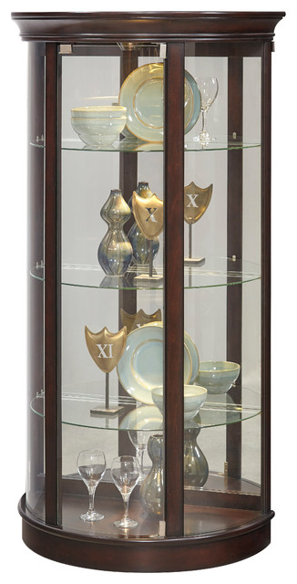 Sable Half-Round Mirrored Mantle Cabinet - Transitional - China ...