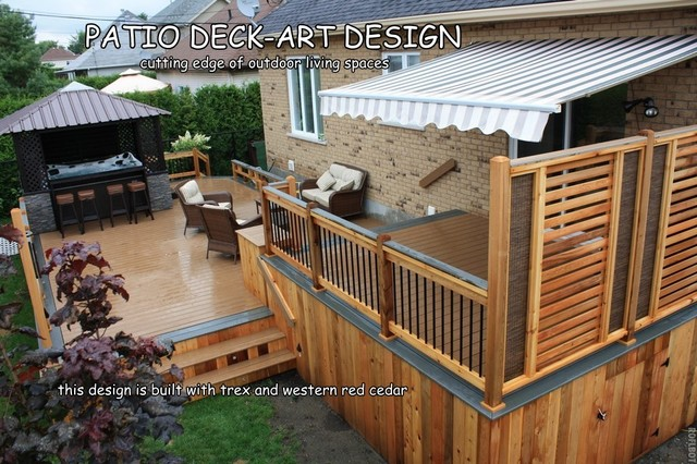 Patio Deck Art Designs Trex Traditional Porch