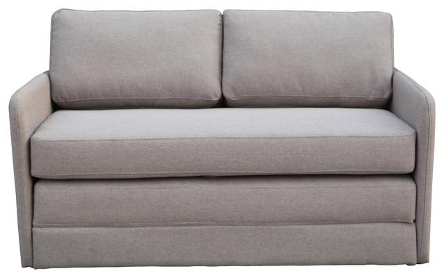Phillip Sleeper Futon Sofa, Beige