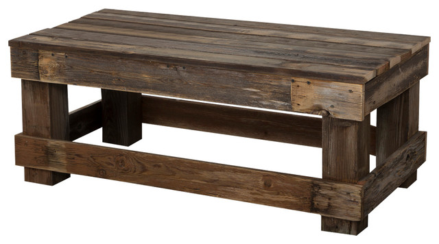 Coffee Table, Barnwood rustic-coffee-tables - Barnwood Coffee Table - Rustic - Coffee Tables - By (del)Hutson