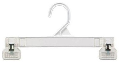 "8"" White Pinch Grip Pant Or Skirt Hanger, Set Of 25."