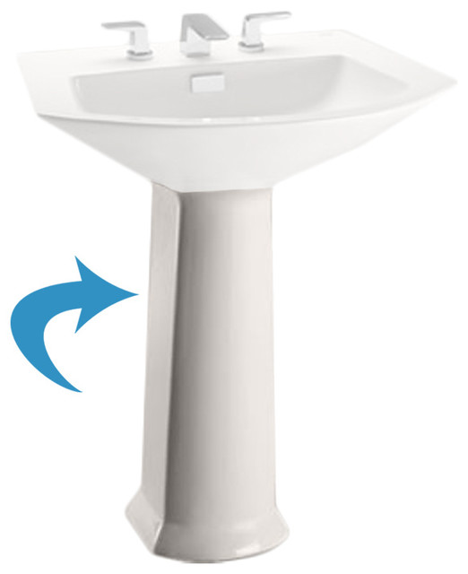 TOTO Toto PT960 Soiree Pedestal Only Bathroom Sink Tap Parts Houzz
