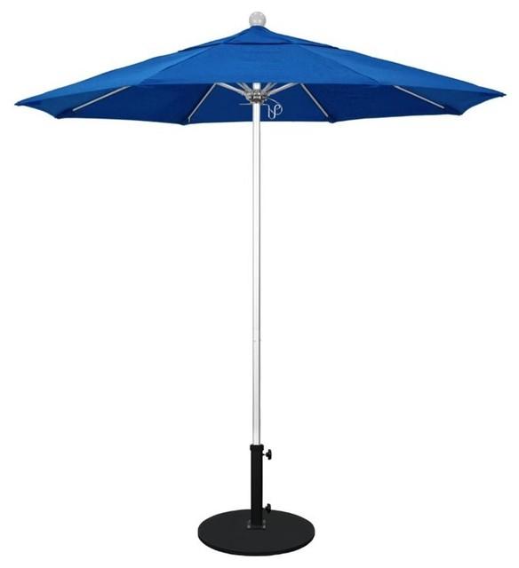 California Umbrella Venture 7.5&x27; Silver Market Umbrella, Blue