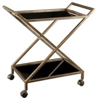 Zafina Gold Bar Cart By Designer NA