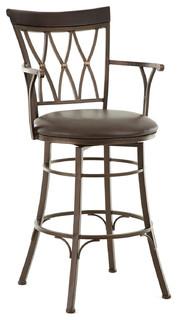 Steve Silver Bali Jumbo Swivel Bar Chair w/Armrest