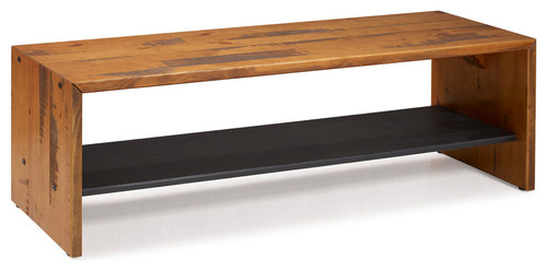 58 Solid Reclaimed Wood Entry Bench, Amber