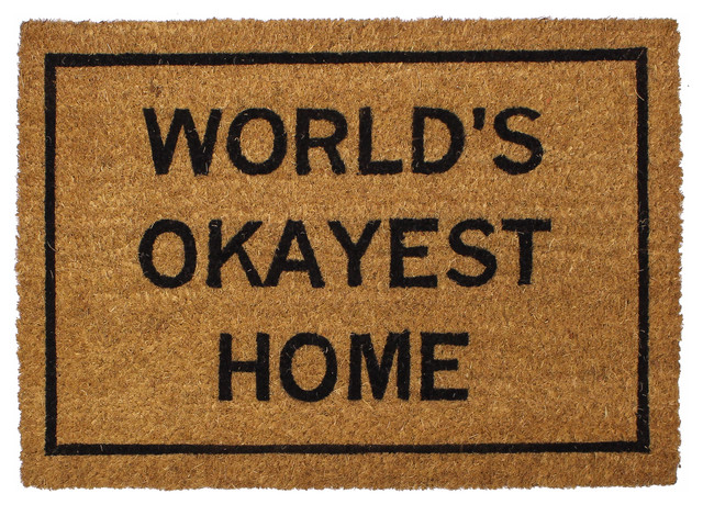 Clever doormats world 39 s okayest home doormat contemporary doormats by cleverdoormats - Clever doormats ...
