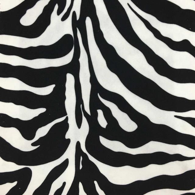 Safari Zebra Velvet Upholstery Fabric Yard Farmhouse Upholstery
