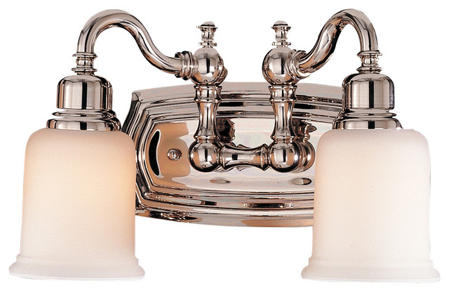 Feiss Bristol 2 Light Vanity Fixture In Oil Rubbed Bronze: Murray Feiss Canterbury Wall Sconce, Polished Nickel