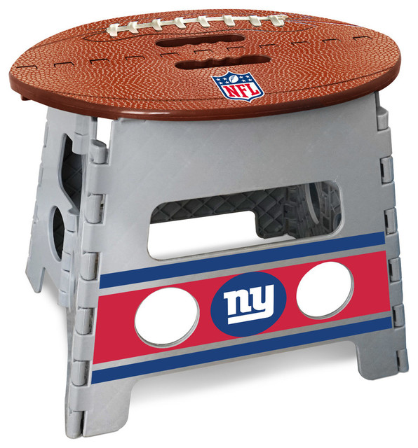 Strange New York Giants Folding Step Stool 14X13 Ocoug Best Dining Table And Chair Ideas Images Ocougorg