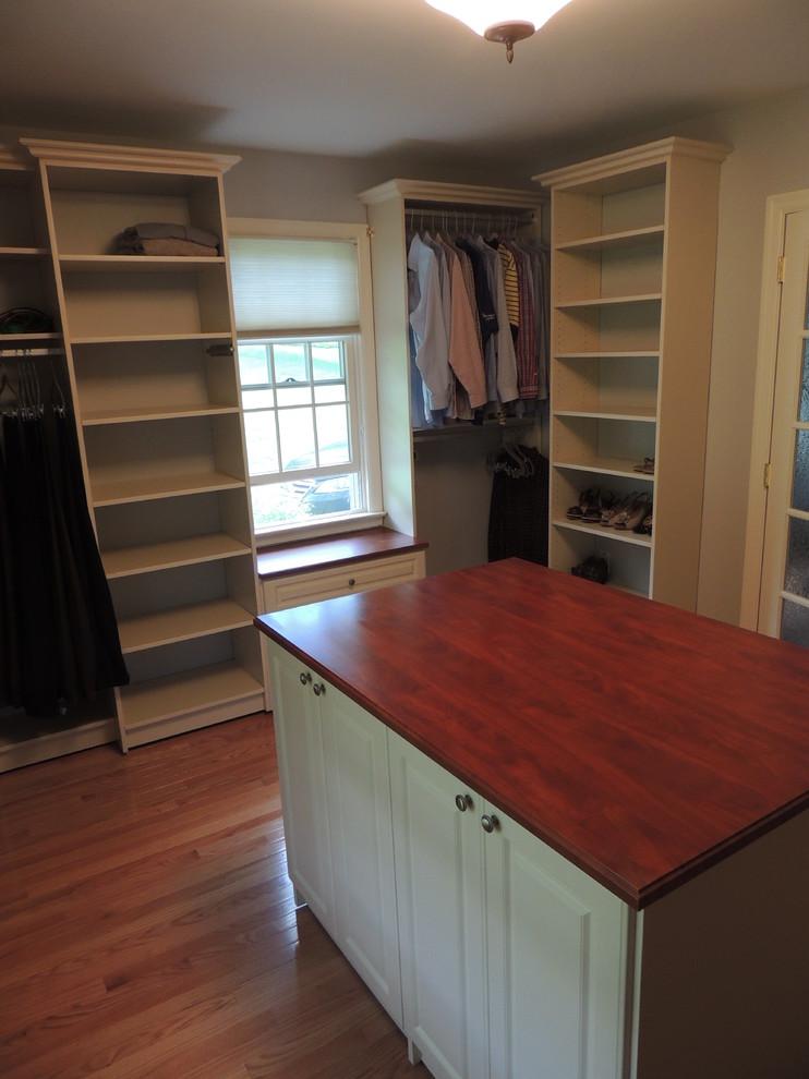 Almond color walk in closet