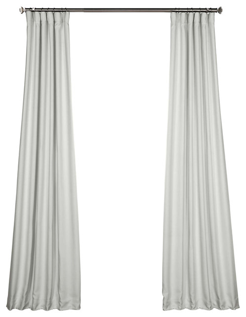"Zephyr Blackout Curtain, Oyster, 50""x108""."