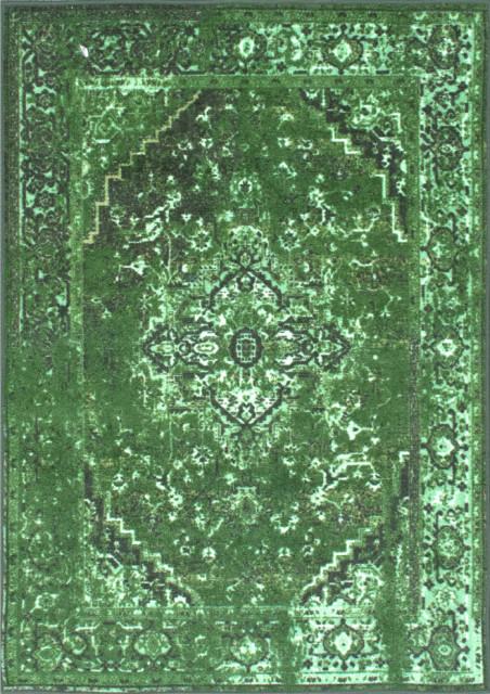 Machine Made Jizah Rug, Green, 5'x8'