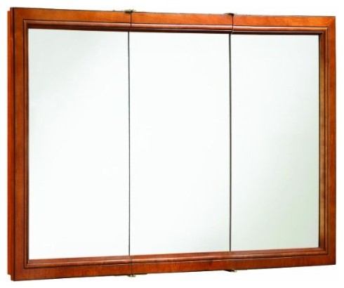Charmant Montclair Chestnut Glaze Triple Door Medicine Cabinet With Solid Wood Frames