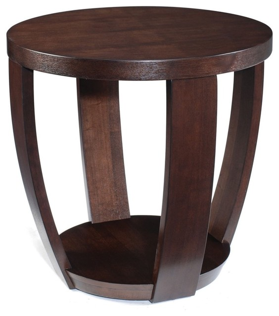 Etonnant Magnussen T1579 Sotto Wood Round End Table