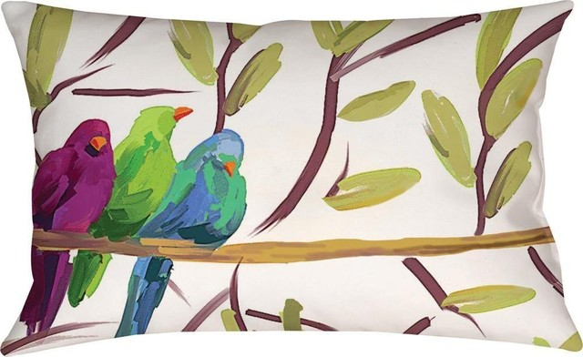 Flocked Together Song Birds, Mco-13 contemporary-decorative-pillows