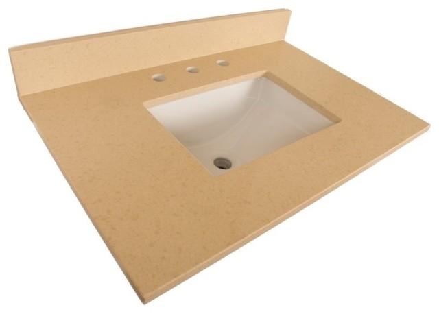 30 quot beige quartz counter top with rectanglar sink