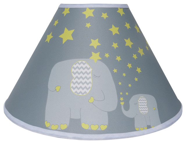 Yellow Elephant Lamp Shades, Nursery Decor With Stars and Moon ...