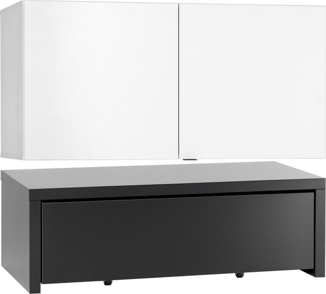Voelkel Young Users Collection, Two Door Low Cabinet, PlatForm, Drawer  Contemporary Accent