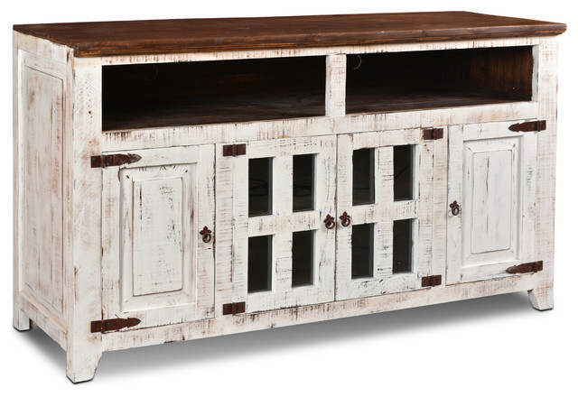 Distressed White Tv Cabinet Home Ideas