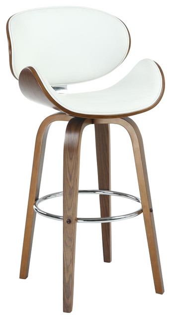 Bachelor Faux Leather Bar Stool, Cream