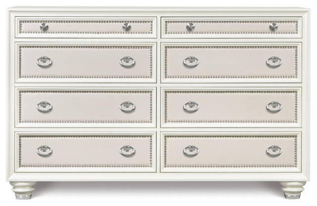 Magnussen Diamond 8 Drawer Dresser  glossy cream traditional dressers. Magnussen Diamond 8 Drawer Dresser  glossy cream   Traditional