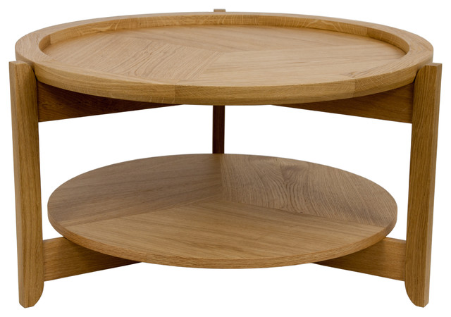 Mossapour Nomad Oak Side Table, Small Midcentury Side Tables And End