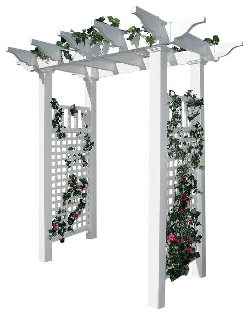 Fairfield Arbor, White, Standard.