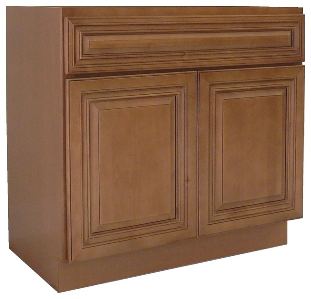 "Ngy Shaker Collection Bathroom Vanity Cabinet, Coffee Glaze, Coffee Glaze, 36""."